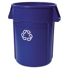 Brute Recycling Container Round 44 Gal Blue
