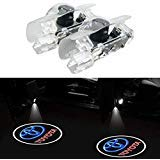 Car Door Courtesy LED Projector,Homose Wireless Ghost Shadow Light Logo Lamps Kit for Toyota Welcome Lights(pack of 2) (Car Projector)