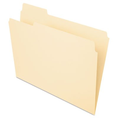 File Folders, 1/3 Cut Top Tab, Letter, Manila, 100/Box, Total 500 EA, Sold as 1 Carton by Pendaflex
