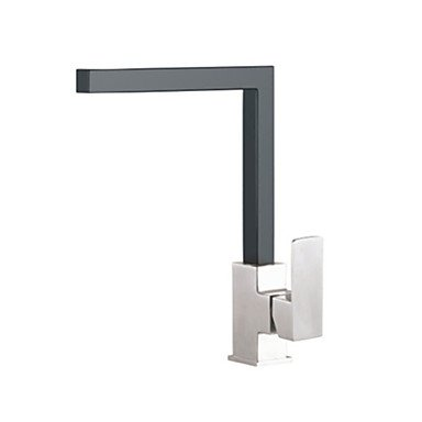 PHASAT ContemporaryKitchen Faucet - Nickel Brushed Finish by Zheng
