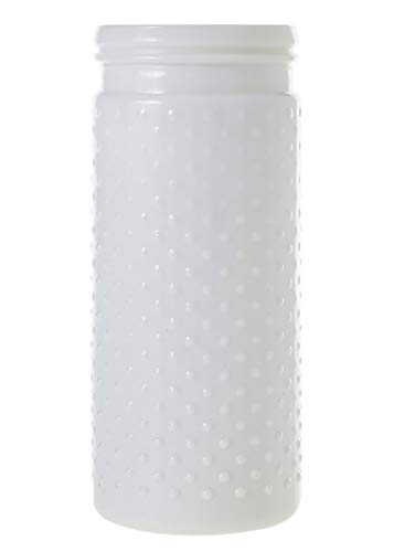 Afloral Glass Hobnail Jar in White - 10