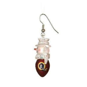 (NFL Snowman Football Earrings (Set of 2) NFL Team: Washington Redskins)