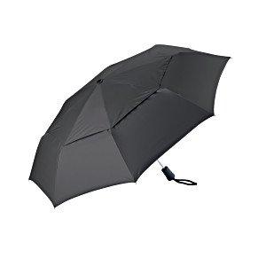 Coolibar UPF 50+ Titanium Travel Umbrella – Sun Protective (Black), Outdoor Stuffs