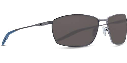 Deep Blue Gray 580P Lens Costa Del Mar Turret Sunglasses Dark Gunmetal