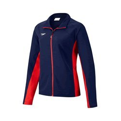 Speedo Women's Female Boom Force Warm Up Jacket Black S