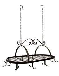 Kitchen Furniture Tuscan (Tuscan Wrought Iron Metal Hanging Pot Holder [Kitchen])