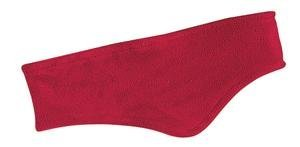 Stretch Fleece Headband, Color: Red, Size: One Size