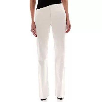 Gloria Vanderbilt Amanda Classic Fit Tapered Leg Womens Jeans (Color: Vintage White) (18 Average) from Gloria Vanderbilt