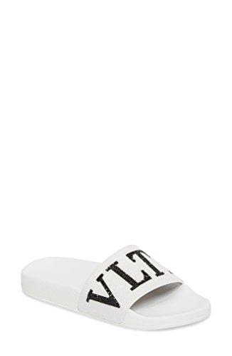 [ヴァレンティノ] レディース サンダル Valentino Crystal Logo Slide Sandal (Wom [並行輸入品]