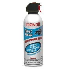 Canned Air, Nonflammable, 10 oz., Sold as 2 Each by Maxell