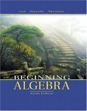 Beginning Algebra, Richard N. Aufmann, 0618386416