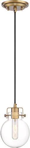 - Quoizel SDL1506WS Sidwell Industrial Mini Pendant Ceiling Lighting, 1-Light, 100 Watt, Weathered Brass (9