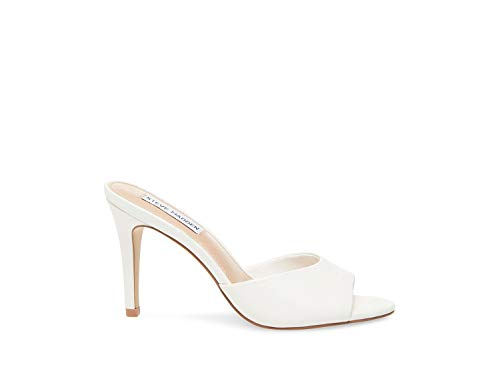 Steve Madden Women's Erin Pump, White Leather, 10 M US