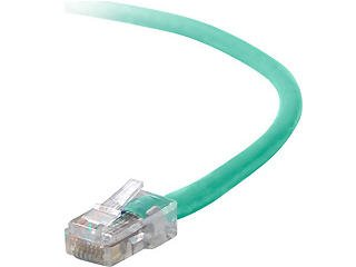 2FT CAT5E PATCH CABLE, UTP, GREEN PVC JACKET, 24AWG, T568B, 50 MICRON, GOLD PLAT