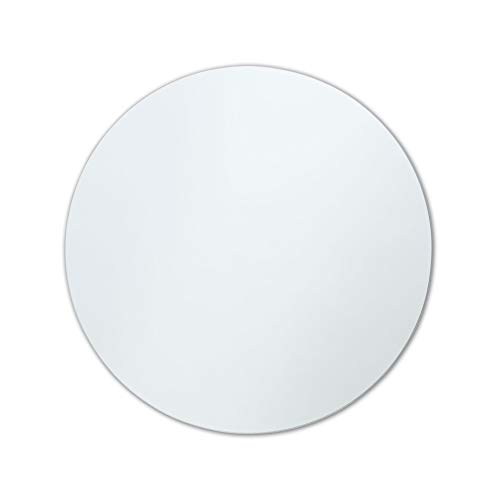 Better Bevel Frameless Round Mirror | Modern, Contemporary Mirror | Bathroom, Vanity, - Frameless Mirrors Bathroom