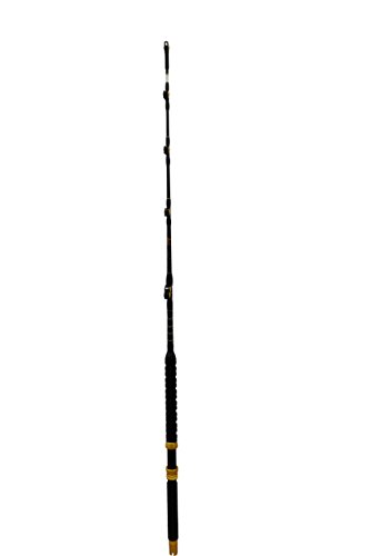 EAT MY TACKLE Saltwater Fishing Rod Custom Blue Marlin Tournament Edition Wind on Leader Guides 100 to 120 Pound Class Pole Trolling For Sale