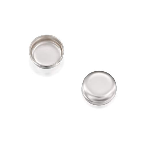 - Round Setting 925 Sterling Silver 4 mm Bezel Cup Findings for Rings Pendants Charms Earrings, 12 Pack