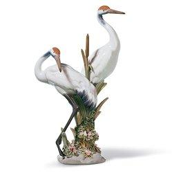Lladro Porcelain Figurine Courting Cranes