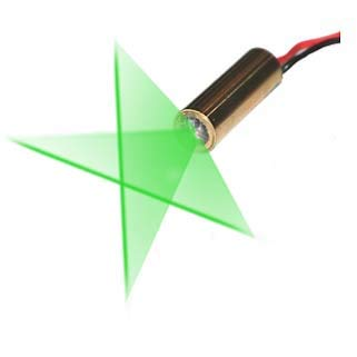 Quarton Laser Module VLM-520-29 LPT Direct Green Cross Line Laser Module (Line-Width optimize at Short Distance)
