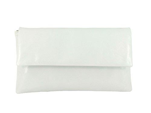 Petit Véritable Sac Pochette en Épaule d' Sac et Fin Main À blanc Cuir qwC8gt46