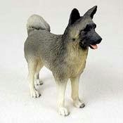Akita Dog Figurine - Gray