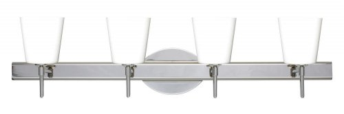Matte 5 Four Canto - Besa Lighting 4SW-513107-CR 4X40W G9 Canto 5 Wall Sconce with Opal Matte Glass, Chrome Finish