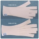 KT Medical Compression Gloves without Darts. Size: X-L, MCP Circumference: 8.5''-8.9'' (22.5-23.5cm)