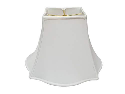 Royal Designs Fancy Square Bell Lamp Shade - White - 7 x 16 x 12.75