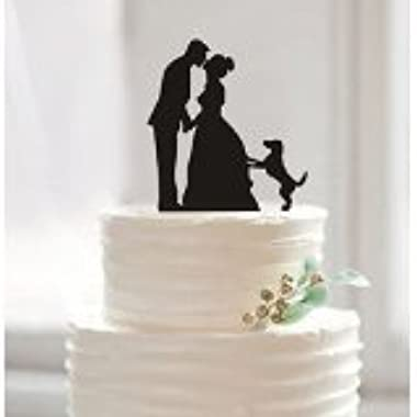 Funny Wedding Cake Toppers, Custom Wedding Cake Topper, Bride and Groom Cake Topper, Pet Dog Cake Topper, Unique Cake Topper.