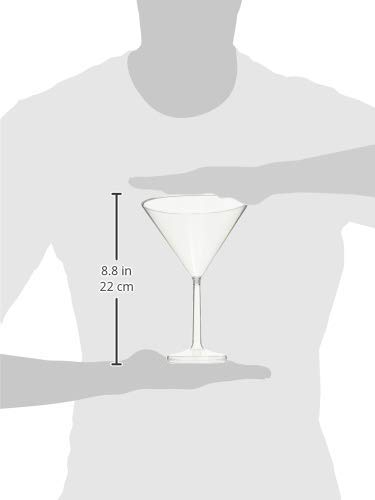Six (6) Jumbo Clear Martini Glasses - w/Free Recipe Card by Marriage and Martinis (Image #3)