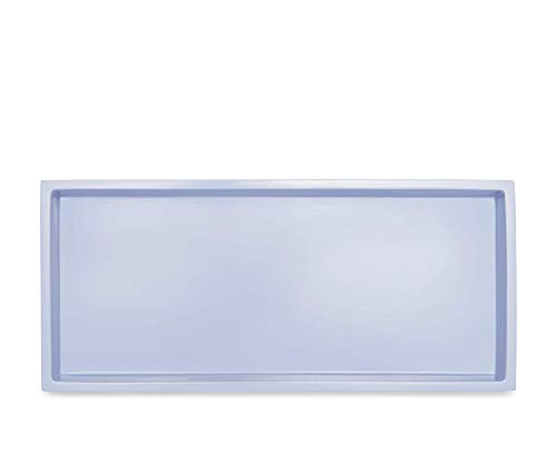 Calvin Klein Home Eileen Bath Collection Tray Perwinkle/Clear