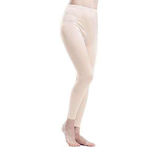 Paradise Silk Pure Silk Knit Women Underwear Long Johns Bottom Only[US14,Beige]