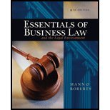 Essentials of Business Law and the Legal Environment by Mann, Richard A., Roberts, Barry S. [South-Western College/West,2006] [Hardcover] 9TH EDITION (Essentials Of Business Law And The Legal Environment)