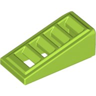 lego-roof-tile-1x2x2-3-lego-61409-element-4540385-bright-yellow-green-pack-of-4