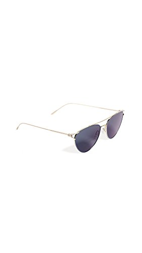 Oliver Peoples Eyewear Women's Floriana Sunglasses, Brushed Soft Gold/Teal Blue, One - Sunglasses Womens Peoples Oliver
