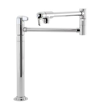 Hansgrohe 04060860 Allegro E Deck Mount Potfiller Steel Optik Tub