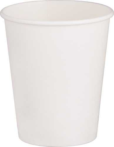 RENOWN Single-Sided Pe-Lined Paper Hot Drink Cups, White, 8 Oz., 1,000Per Case - 2471225