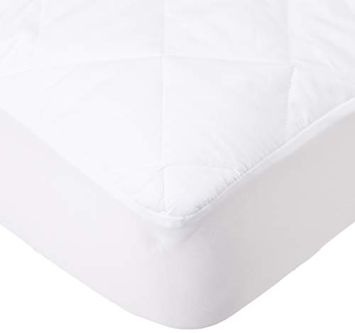Home Bargains Plus Classic Twin-XL Extra 18 Deep Microfiber Quilted Mattress Pad, Dorm Mattress Pad - Twin Extra Long
