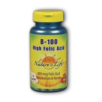 B-Complex High Folic Acid, 100 mg, 250 caps by Nature's Life (Pack of 2) by Nature's Life