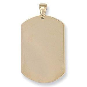En or jaune 9 carats avec Pendentif Dog Tag