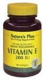 Nature's Plus Vitamin E Mixed Tocopherol -- 400 IU - 180 Softgels - Natures Plus Mixed Tocopherol