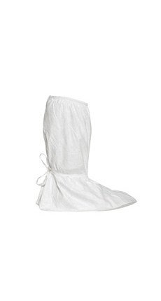 Dupont Safespec White Large Disposable Cleanroom Boot Cover - ISO Class 5 Rating - 18 in Height - Tyvek Isoclean Upper and PVC Sole - 15 1/4 in Sole Length (Dupont Isoclean Tyvek Boot Cover)