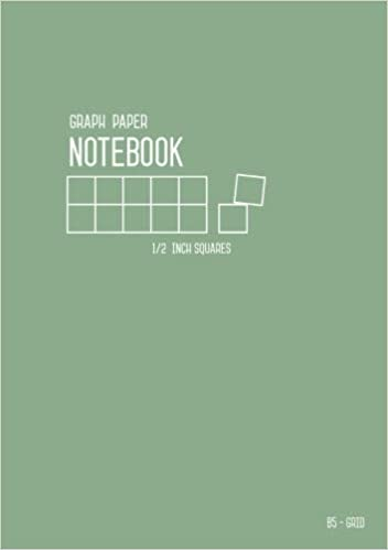 graph paper notebook b5 1 2 inch squares dusty green medium size