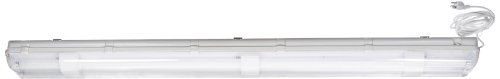 Industrial Grade Sealed Fluorescent Light Fixture with Cord and Switch, 24