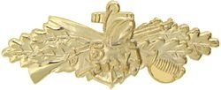 Seabees Combat Service Lapel Pin or Hat Pin (Gold Finish) by KCM