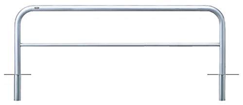 サンポール アーチ 差込式 車止めポール 直径60.5mm W2000×H650 ステンレス製 メーカー直送 AH-7S20-650   B07MXCBNCD