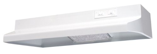 Air King AD1363 Advantage Ductless Under Cabinet Range Hood with 2-Speed Blower, 36-Inch Wide, White Finish
