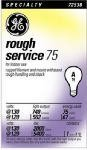 Ge 75w Rough (G.E. LIGHTING 72530 ROUGH SERVICE A19 BULB 75 WATT by GE Lighting)