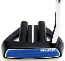 Rife Two Bar Hybrid Mallet Heel Shafted Putter Black Right Hand, 35-Inch