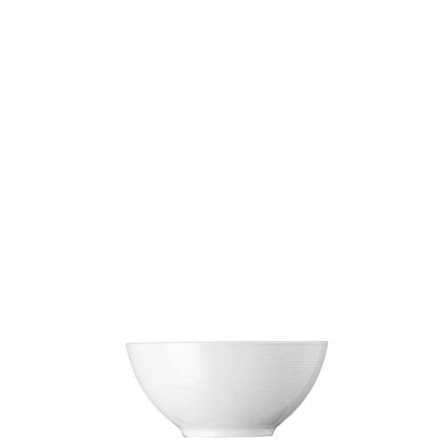 (Rosenthal Thomas Loft White Cereal Bowl – Modern Tableware Made of Porcelain for Soup, Dessert or Cereal – Unique Design with Concentric Lines – 6 1/4)